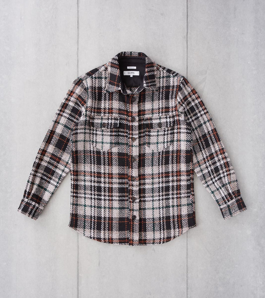 Division Road Freemans Sporting Club Overshirt - Woven Plaid - Black