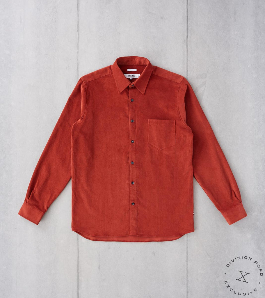 Division Road Freemans Sporting Club x DR CS-1 Shirt - Japanese Corduroy - Rust