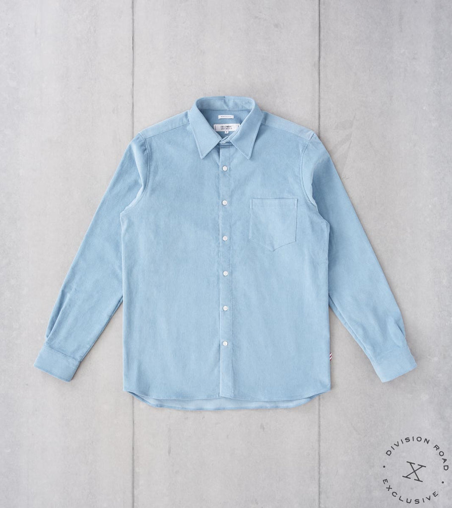 Division Road Freemans Sporting Club x DR CS-1 Shirt - Japanese Corduroy - Sky