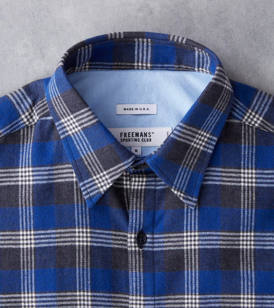 Freemans Sporting Club CS-1 Shirt - Plaid Flannel - Navy Division Road