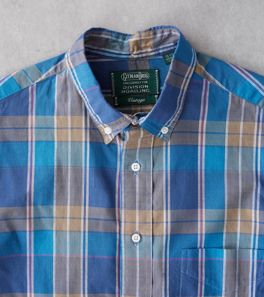 Division Road Gitman Vintage Archive Madras - Blue & Gold