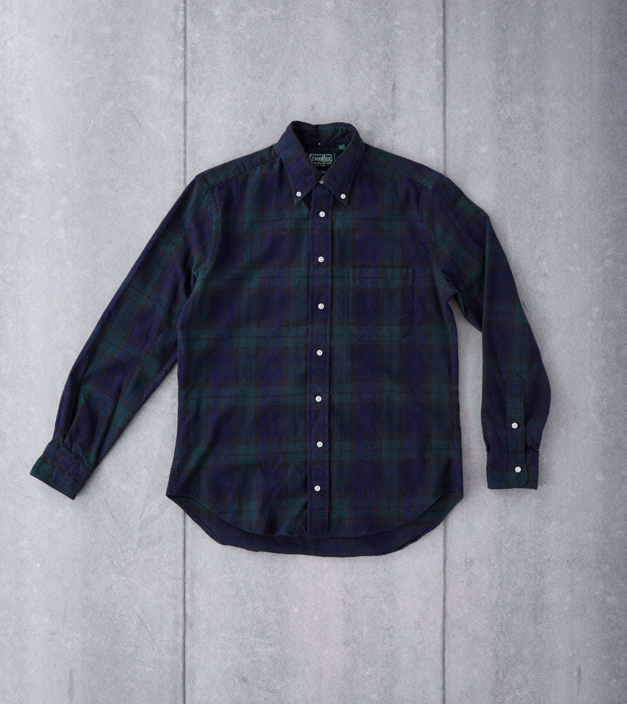 Japanese Blackwatch Plaid Flannel