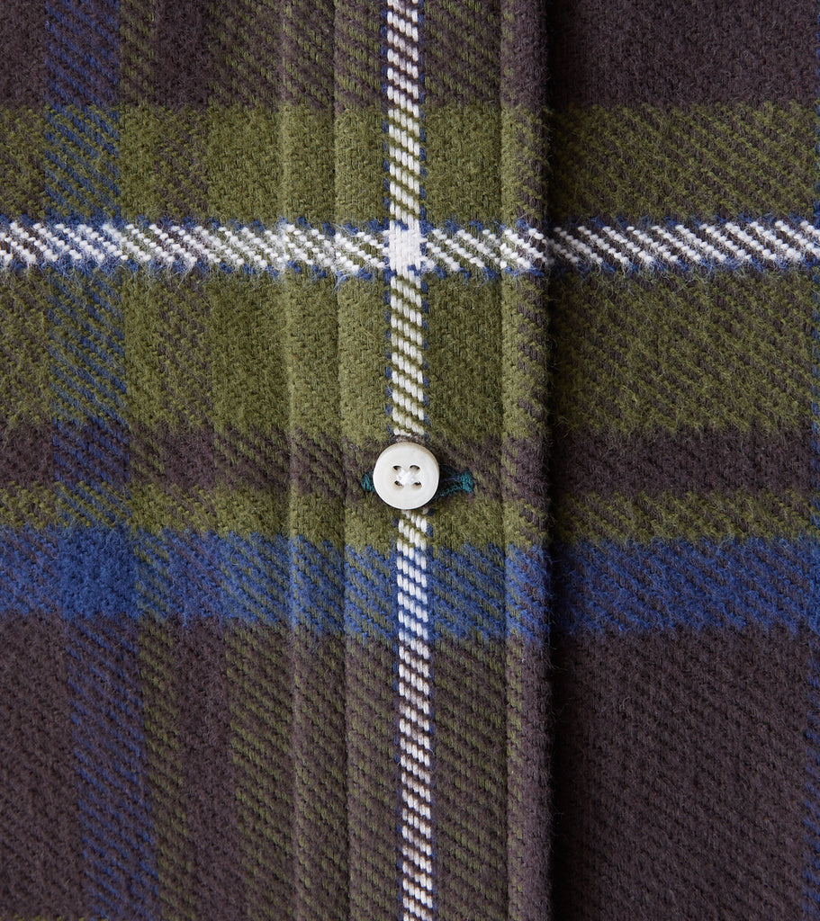 Division Road Gitman Vintage Japanese Rough Check Flannel - Olive