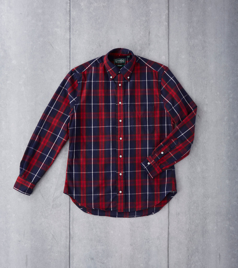 Gitman Vintage Japanese Plaid Flannel - Red & Navy Division Road