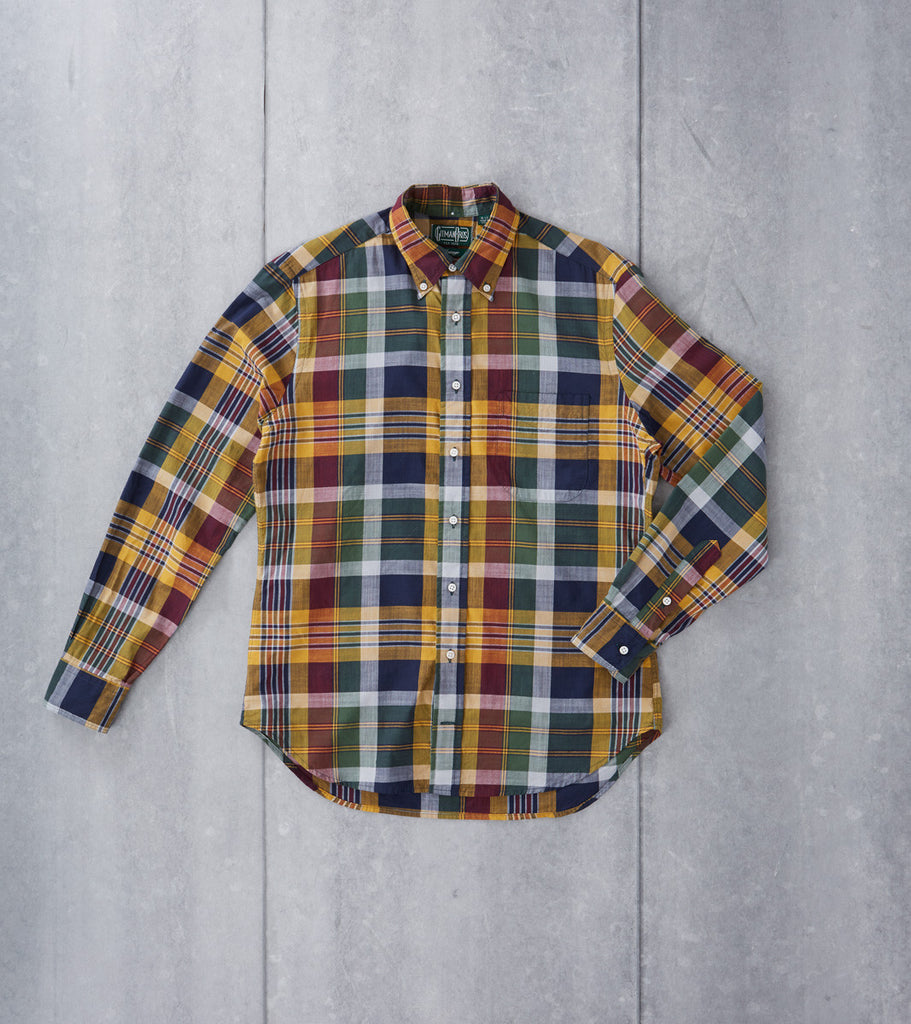 Gitman Vintage Archive Madras Check - Yellow - Division Road