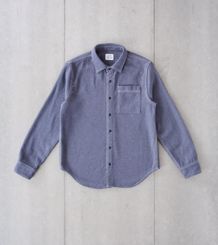 Division Road Home Work Blanket Twill Overshirt - Denim