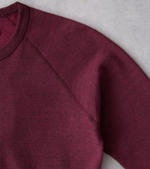 Division Road National Athletic Goods - Raglan Warm Up Sweatshirt - Wine