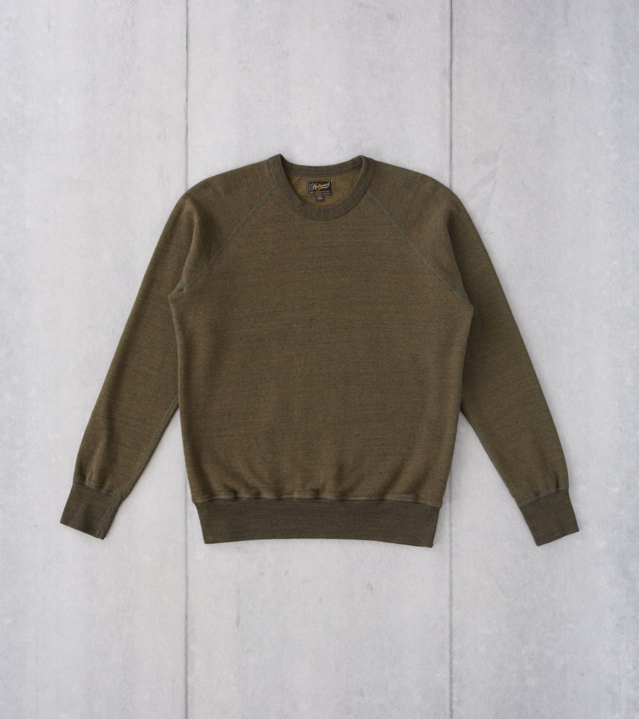 Division Road National Athletic Goods - Raglan Warm Up Sweatshirt - Olive