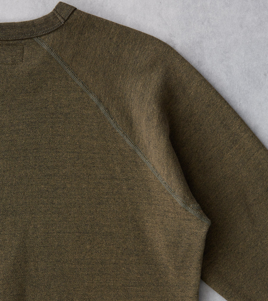 National Athletic Goods - Raglan Warm Up Sweatshirt - Olive