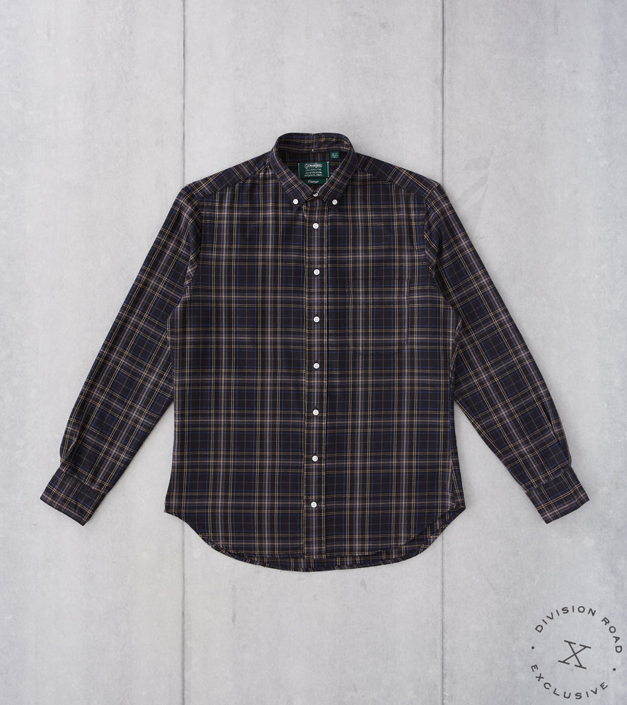 Division Road Gitman Vintage x DR Interwoven Check Twill - Black