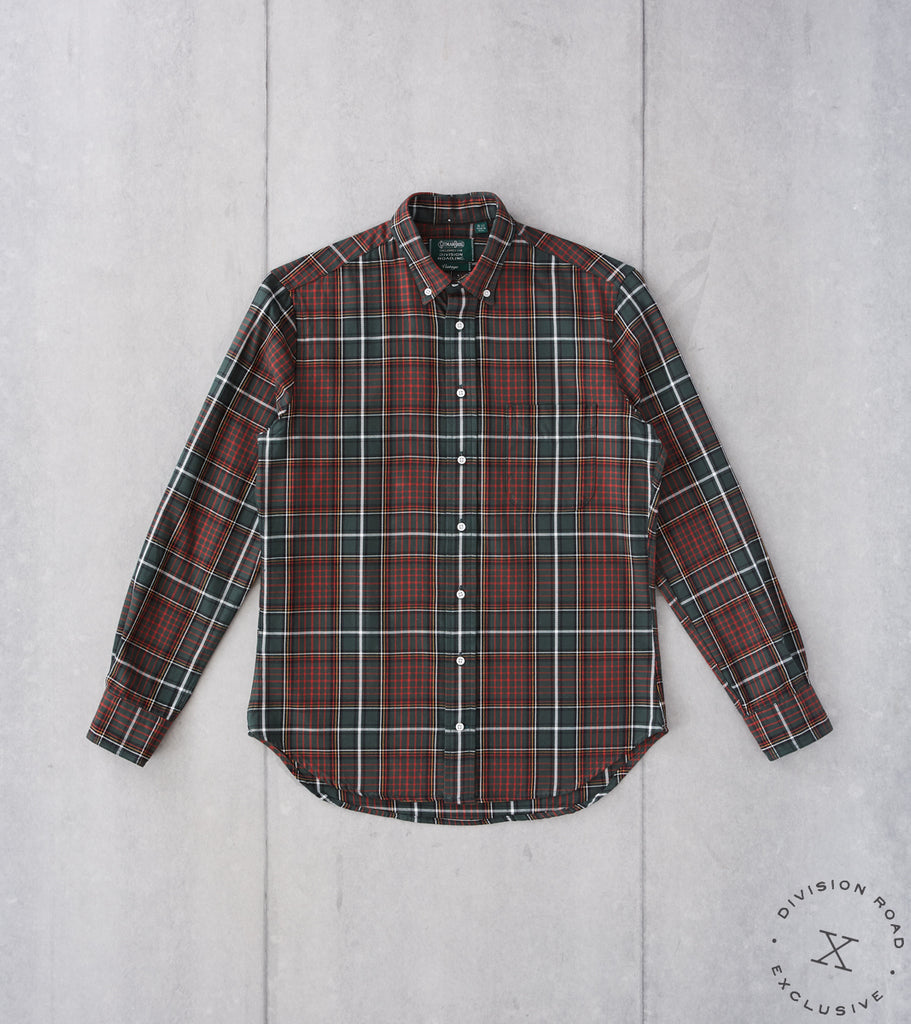 Division Road Gitman Vintage x DR Interwoven Check Twill - Green