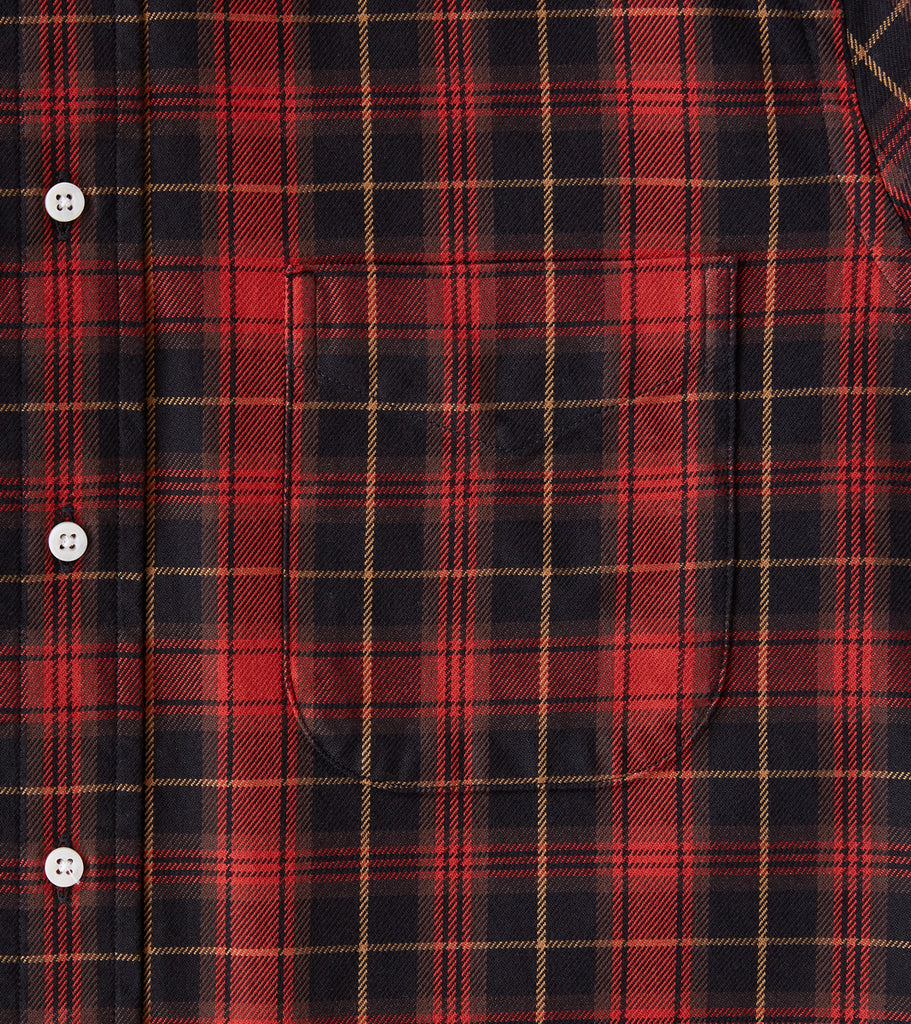 Division Road Gitman Vintage x DR Interwoven Check Twill - Red