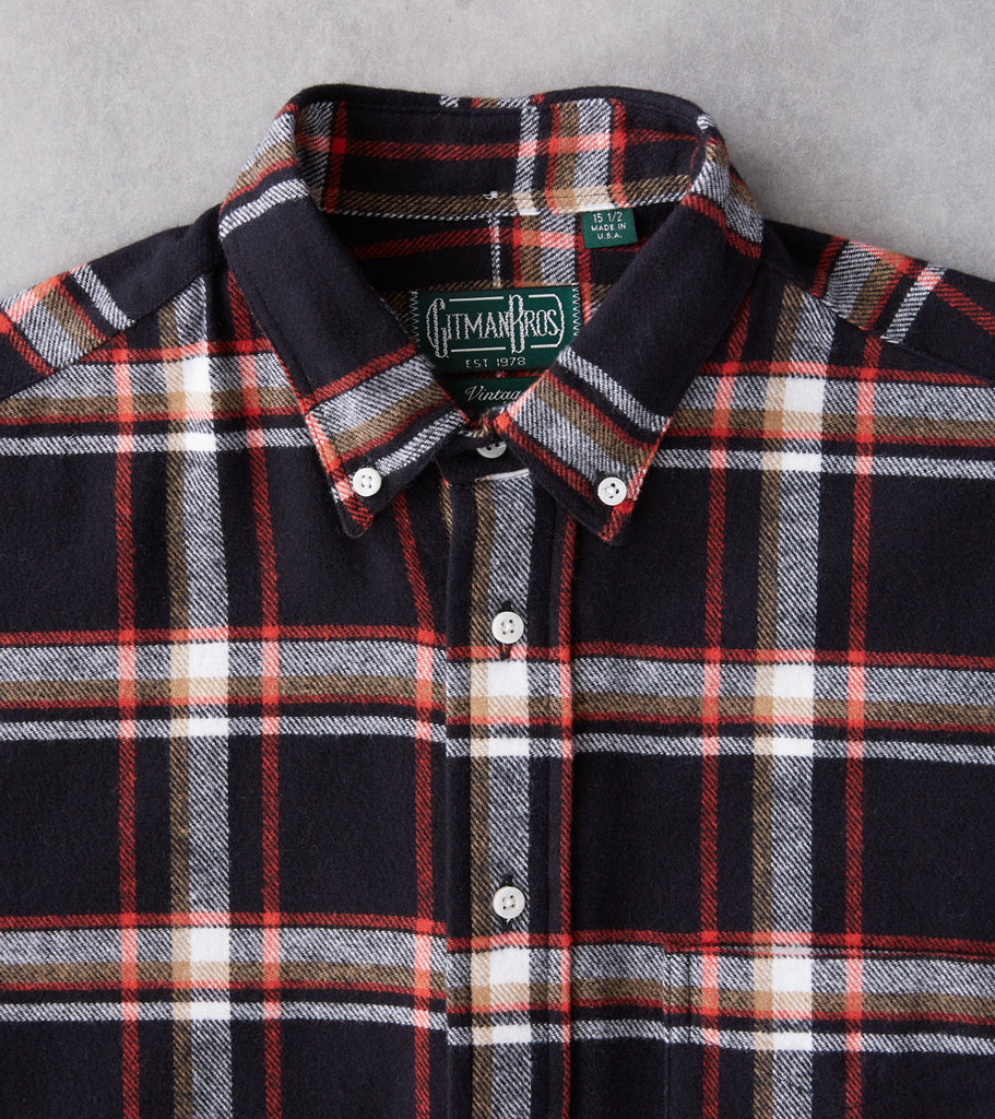 Division Road Gitman Vintage Japanese Country Plaid - Black