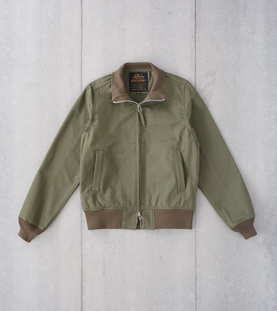 Division Road Iron Heart 96-OLV - Tanker Jacket - 10.5oz Chino Olive