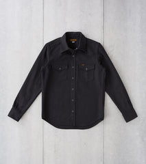 Division Road Iron Heart 235-BLK - Western - 13oz Military Serge Twill Black