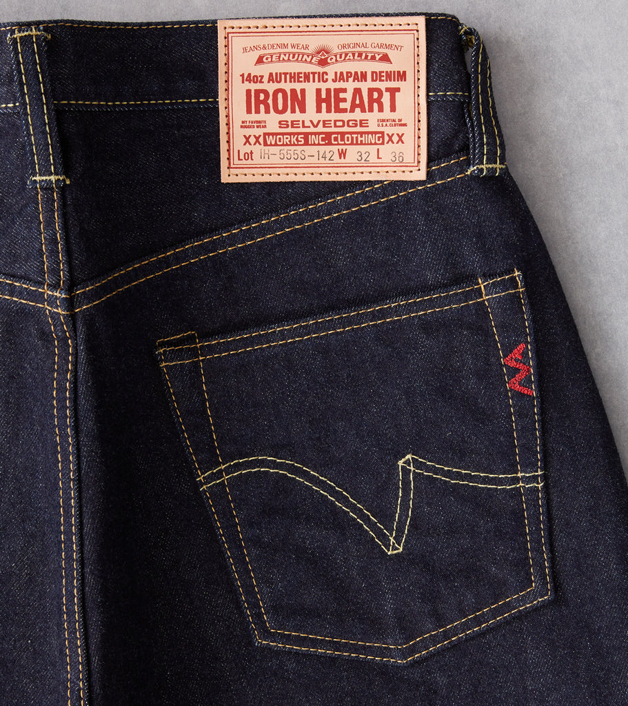 Division Road Iron Heart 555S-142 - Super Slim - 14oz Indigo