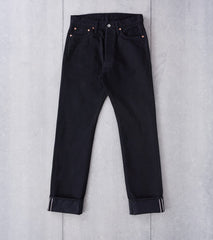 Iron Heart 888S-142bb - High Rise Tapered - 14oz Black x Black Division Road