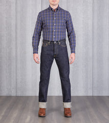 Iron Heart 888S - High Rise Tapered - 21oz Indigo Division Road