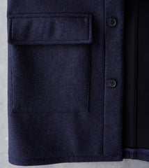 A.P.C. Ben Parka - Heather Navy Division Road Coats Wool