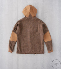 Division Road MotivMfg x DR French Shooting Jacket - Abraham Moon® Bronze Shetland Tweed