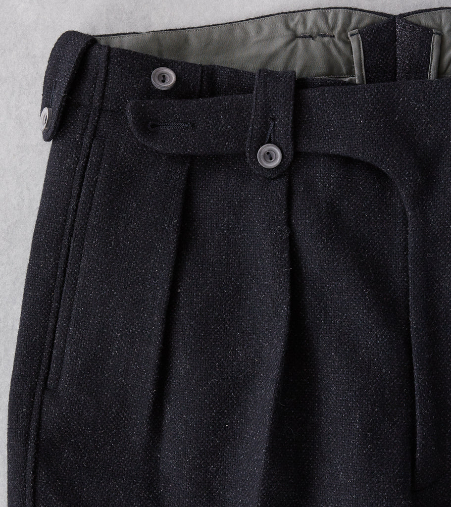 Division Road MotivMfg X DR English Convertible Trousers - Lovat® Anthracite Thornproof Hopsack