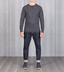 Division Road National Athletic Goods - Long Sleeve Gym Tee - Black Heather