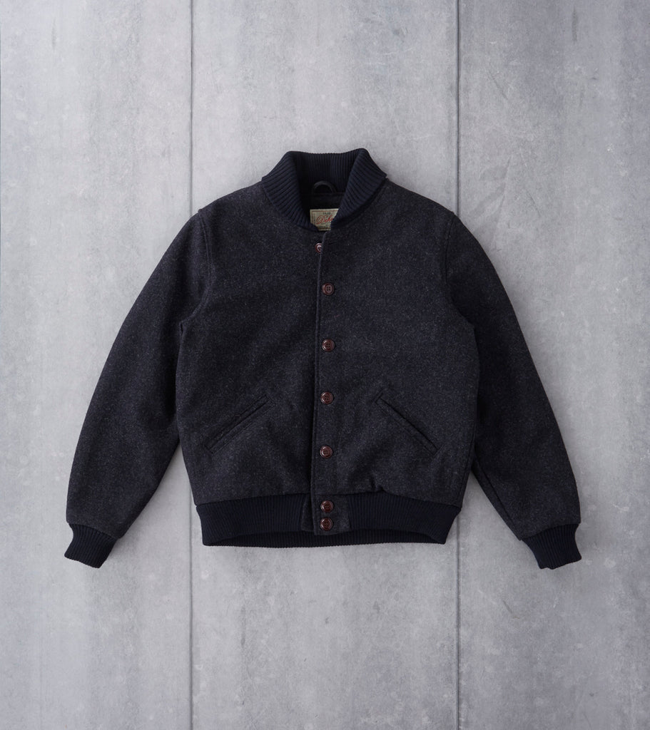 Dehen 1920 Club Jacket - Woolrich® Charcoal Melton Division Road
