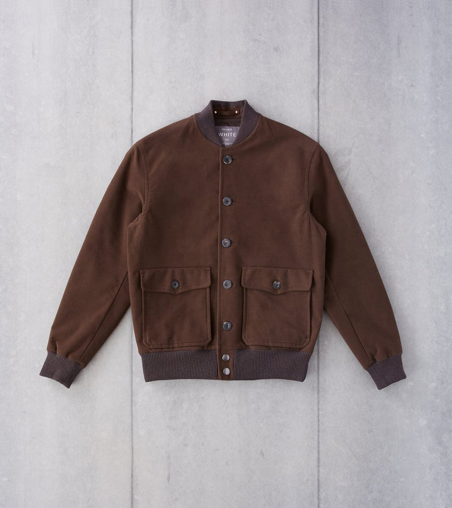 Private White V.C. Moleskin Bomber - Brown Division Road