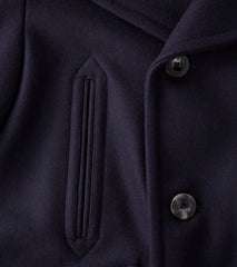 Private White V.C. Manchester Pea Coat - Navy Melton Wool Division Road