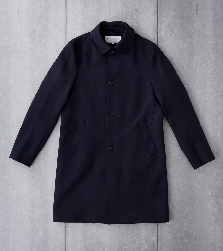 Private White V.C. Venetian Wool Inset Coat - Navy Division Road