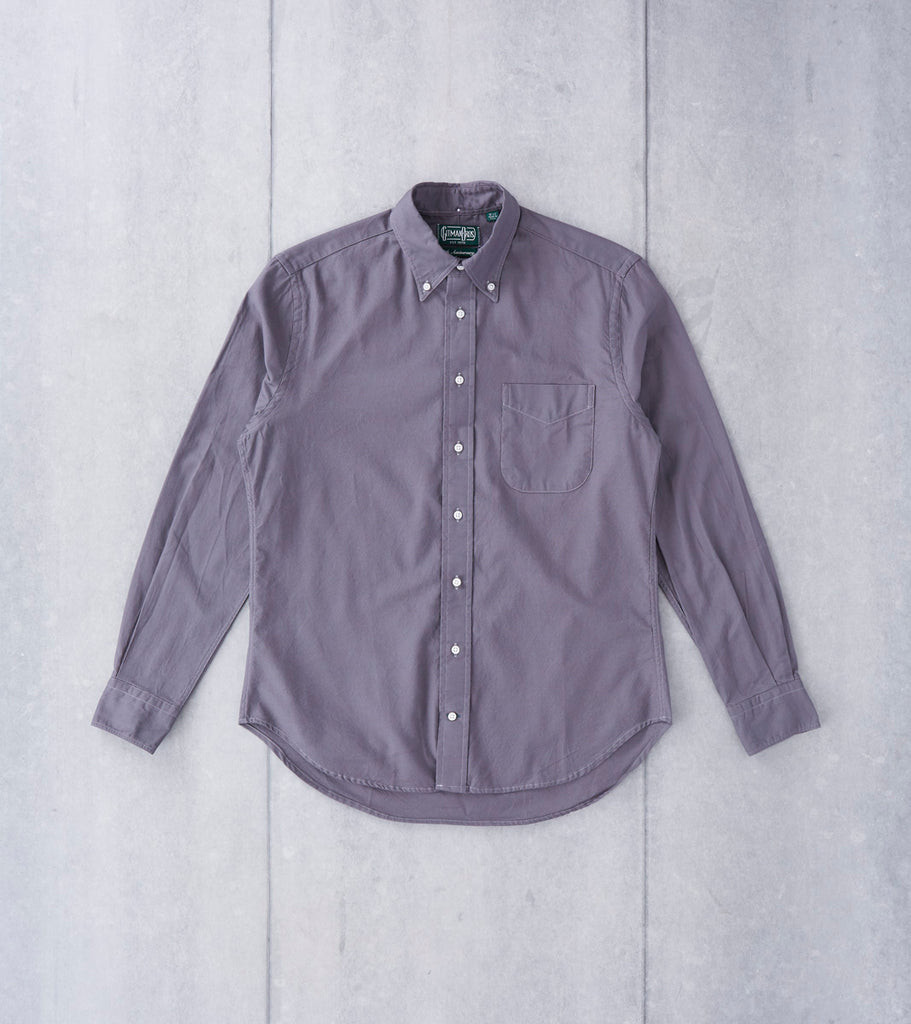 Gitman Vintage Hopsack Oxford - Grey Division Road