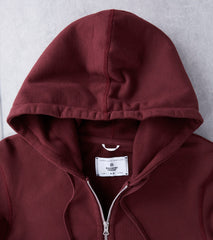 Reigning Champ Full Zip Hoodie - Crimson Division Road