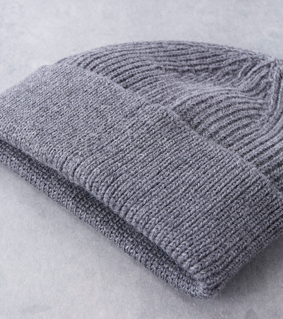 Andersen-Andersen Classic Knit Beanie - Grey Brown Division Road