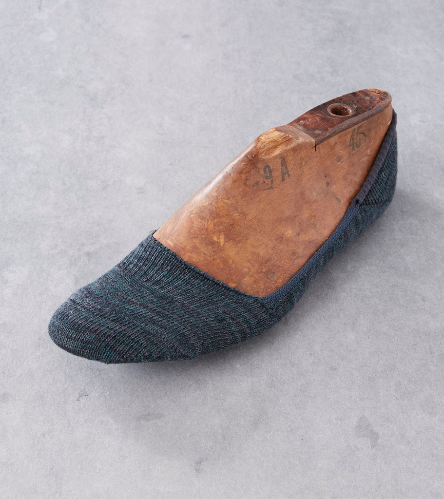 Anonymous Ism Mix Melange Loafer Sock - Charcoal Division Road