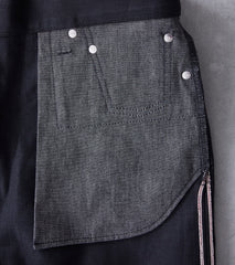 BDDxDR-711 - High Tapered - 14oz Black+Black