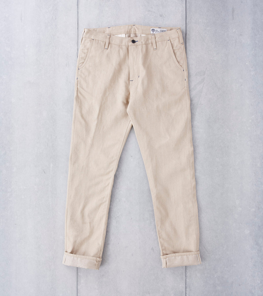 Benzak - BC-01 Tapered Sand Linen/Cotton Chino - 7.5oz Division Road