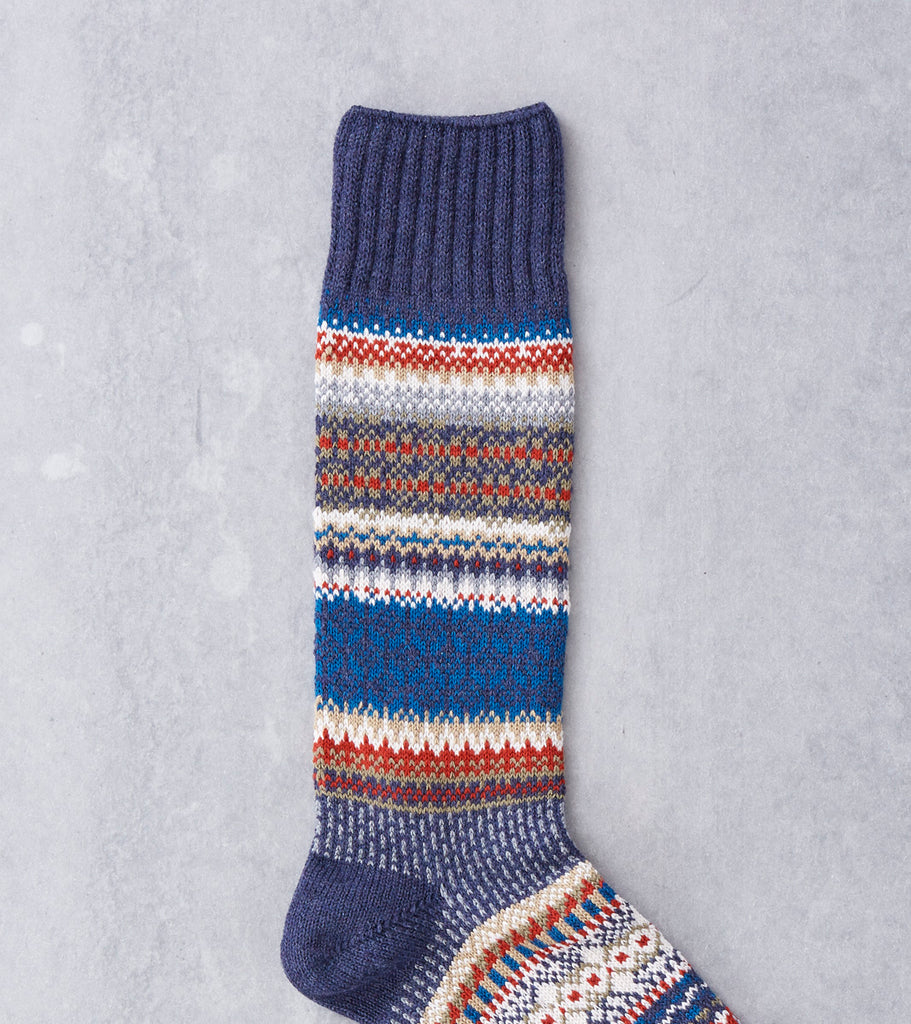 Chup Socks - Mezs - Navy Division Road