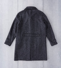 Corridor NYC Ralgan 3/4 Length Italian Car Coat - Charcoal Division Road