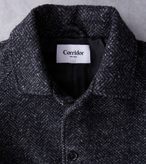 Corridor NYC Ralgan 3/4 Length Italian Car Coat - Charcoal Division RoadCorridor NYC Ralgan 3/4 Length Italian Car Coat - Charcoal Division Road