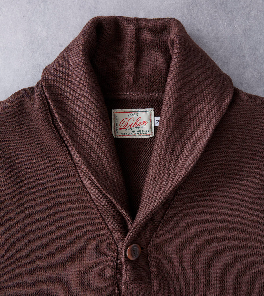 Dehen 1920 x DR Shawl Cardigan - Chocolate Division Road
