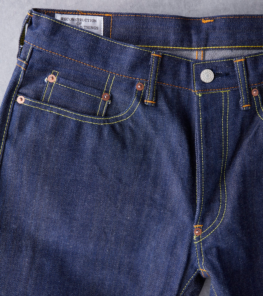 vStudio D'Artisan - SD-D07 - Natural Indigo Super Tight Straight Division Road