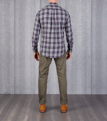 Gitman Vintage IVY Street Archive Plaid - Flannel Twill - Navy & White Division Road