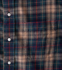 Gitman Vintage IVY Street Archive Plaid - Flannel Twill - Green & Navy Division Road