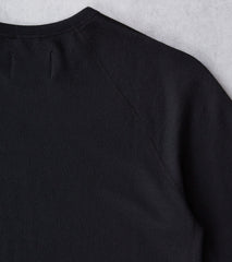 Reigning Champ Merino Terry Crewneck - Black Division Road