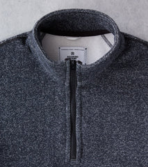 Reigning Champ Tiger Fleece Half Zip Pullover - Black Division Road
