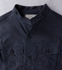 Ginew Rider Jacket - Black 10oz Waxed Army Duck Division Road