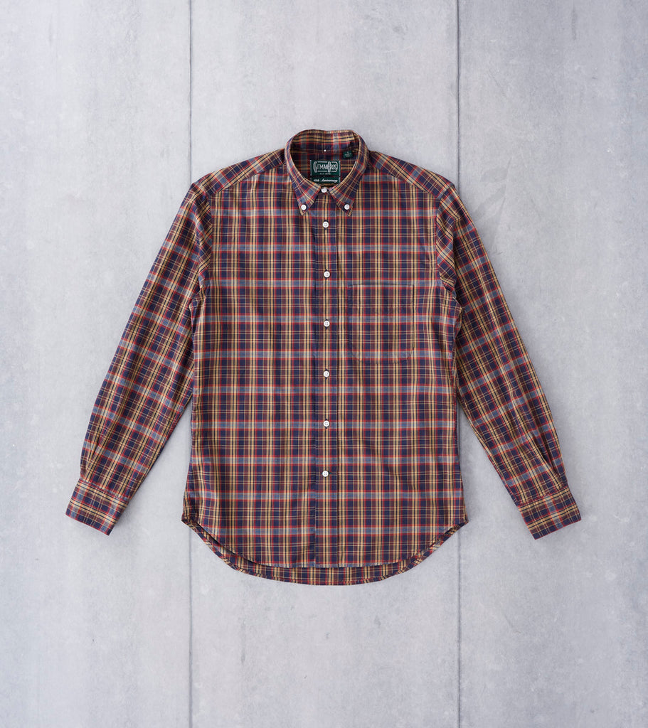 Gitman Vintage Minersville Plaid - Blue & Gold Division Road