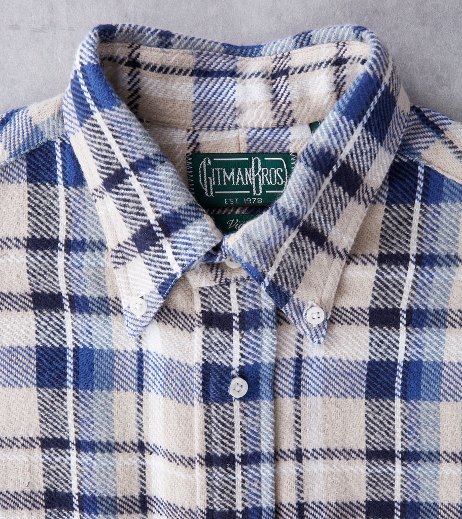 Gitman Vintage Montana Triple Yarn Flannel - Blue Division Road