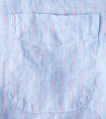 Gitman Vintage Barber Shop Linen Stripe Division Road