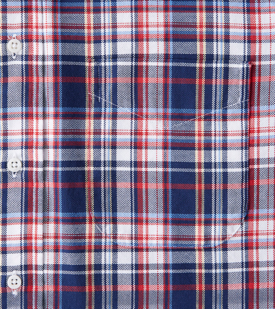 Gitman Vintage x Division Road Deconstructed Plaid Hopsack - WRN